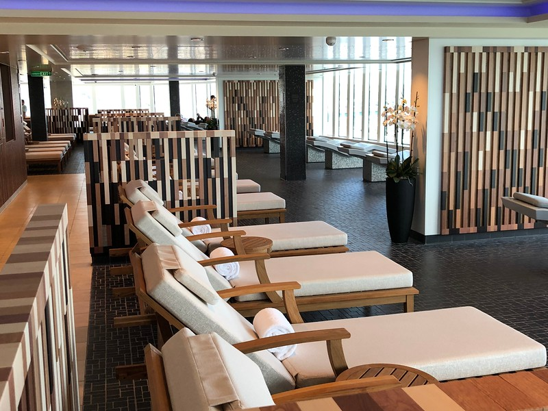 """If you don't care about food, drinks, entertainment, fun activities, etc. and all you want to do when onboard is """"Chill Out"""", no worries... like on many Norwegian ships the """"Bliss"""" has a huge """"Thermal Spa"""" area with heated beds, loungers, hot tubs..."""