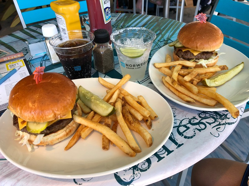 """Although """"Margaritaville"""" isn't new to """"Bliss"""" we had to show a pic as the burgers are so good there!! :-)"""