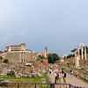 """Right next to the Colosseum is the """"Roman Forum"""" ruins which used to be the """"City Center"""" back in the day where the Government ran things, etc.  Here's a look at what the Forum looks like today."""