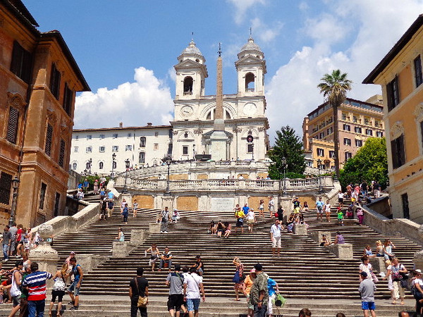 "As mentioned, the fun ""Heart of Rome"" walk starts or ends at the ""Spanish Steps""... there they are and this area is another great place to eat, have a drink, people watch, hear some local music, etc. when in Rome."