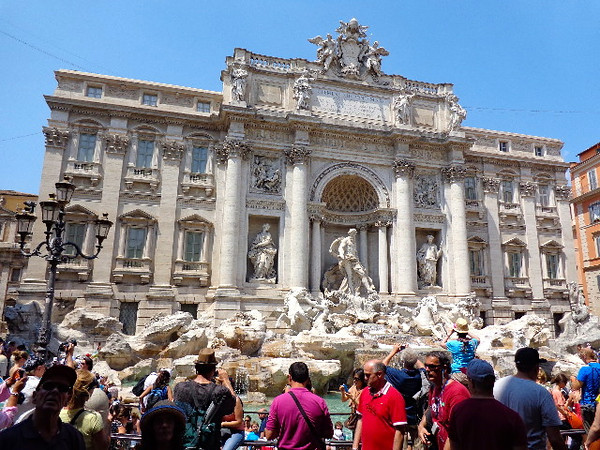 "Definitely one of the most visited places in Rome, ""Trevi Fountain"" is a place where you'll always find thousands of tourists per day dropping in coins to guarantee their return visit to Rome... it certainly worked for us after our 1st visit back in 2010! :-)"