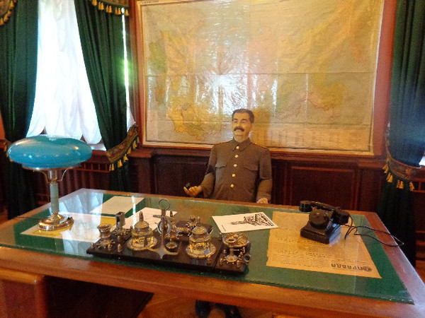 "Sochi is a favorite seaside resort town of Russians as it was for Jospeh Stalin years ago where he had his favorite ""Dacha"" which would be like a Cottage to us. We visited there and above you'll see his life-size wax figure of him in his office."
