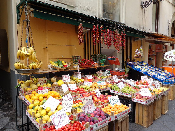 If you're a fresh-fruit lover you'll love Sorrento, especially if you like lemons & lemon-cello as this area of Italy is where much of it is produced.