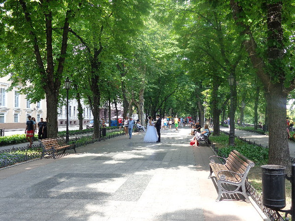 "There's a look at the ""Primorsky Boulevard"" in Odessa... right at the top of the ""Potemkin Steps"" it's a great place to stroll along & mingle with the locals to get a feel for what Ukrainian life is like."