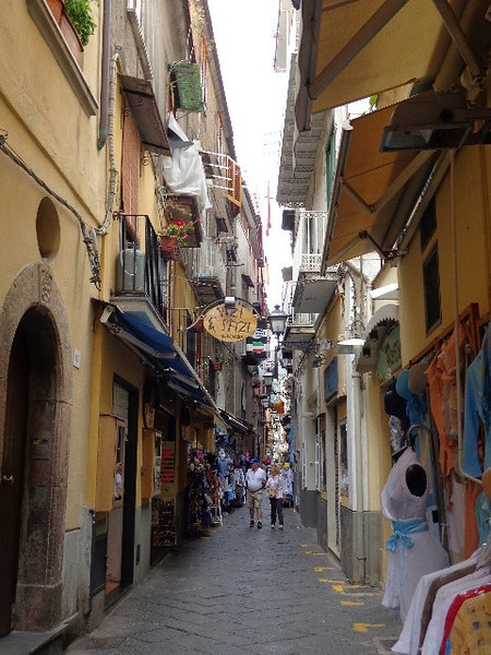 """The 2 big things to do when in this area are to visit the Beautiful """"Amalfi Coast"""" and the ruins of ancient """"Pompeii""""... as we did both those during our 2010 Mediterranean Cruise we decided to explore the pretty, hill-side, town of Sorrento by foot for a few hours... walking down charming Italian streets & walkways like these is always one of our favorite, and romantic, things to do! :-)"""