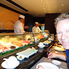 "As mentioned in the last caption, unlike the big ships Crystal doesn't charge for their onboard specialty restaurants. (some ships have charges as high as $85 per person for those these days)  FYI, Crystal offers 2 of these onboard & one of them is called ""Silk Road/The Sushi Bar"" and was created by famous Japanese Chef, ""Nobu Matsuhisa"". Yummy! :-)"