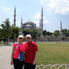 "There's us in front of Istanbul's infamous ""Blue Mosque""... named so for the blue tiles adorning the walls of its interior. We stayed just a few blocks from here for 3 nights & walked by it at least twice per day & every-time we saw it, it was just as spectacular as the 1st time! :-)"