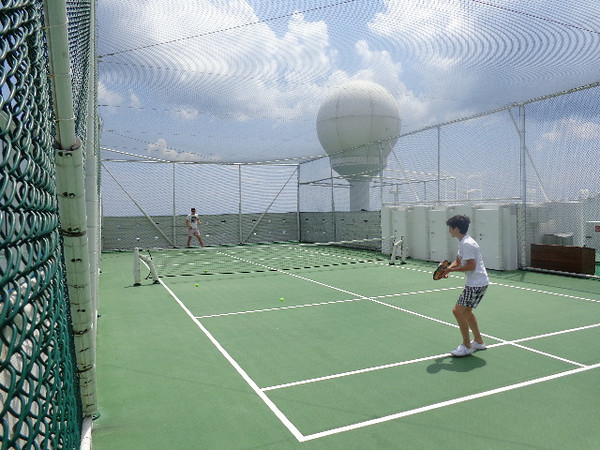 "As we had 2 Sea days before we went to our ""Black Sea"" ports & Istanbul, we figured it was a good time to show you around the ""Crystal Symphony""... there's a peek at the Paddle Tennis court where you can stay active while enjoying some perfect weather!"
