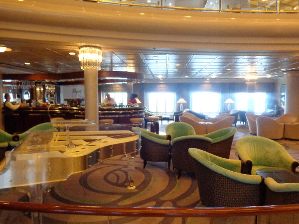 "There's the ""Crystal Cove"" lounge which is the prime meeting spot onboard Symphony for a pre-dinner drink & hors d'oeuvres... & you can enjoy some really nice Piano music while there as well."