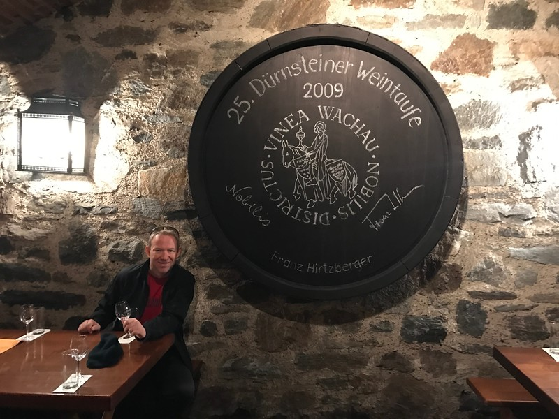 Then, on top of tour of Durnstein and hike up the hill, we enjoyed a yummy wine tasting at a really cool Austrian tavern…