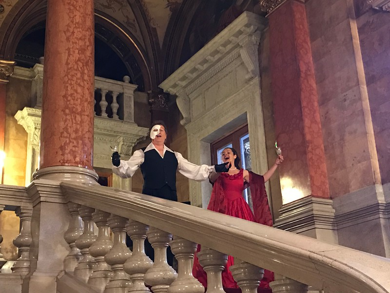 "But the highlight for sure was being ""serenaded"" by 2 of the Opera's stars on the Grand Staircase… they did a duet and treated us to 3 songs… what a special & memorable experience that was, us & our fellow guests talked about it for days! FYI, this was a Tauck exclusive or a ""Lagniappe"" as they call it… during all of Tauck's trips they deliver many surprises like this that aren't in their brochure as they love to under-promise & over-deliver which is one of the reasons Tauck's guests travel with them again and again."