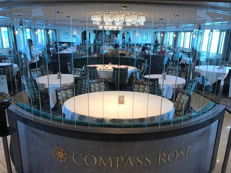 "So there you go, lot's of choices for what type of room to stay in when onboard… now, next most important thing to look at is food, where will you be eating?? :-)<br /> <br /> Here's a peek into the ""Compass Rose"" main dining room… this is where you'll be enjoying most of your meals each day… they offer Buffett breakfast & lunch here and ""A-La-Carte"" dinner.<br /> <br /> FYI, their dinner at night is ""Open Dining"" where they open the restaurant from 6:30pm-8:30pm and you can dine WHENEVER you want!! If it seems like we're making a BIG deal out of this, we are… this was our 14th River Cruise and the first one with open dining… the rest of the lines have so many guests onboard (Tauck puts 30-60 less guests on the same size ships compared to the other lines) that everybody HAS to eat at the same time due to the small galley they need to make all appies at the same time, all soups at the same time, all entrees at the same time and all desserts at the same time.<br /> <br /> This has always drove us crazy on other lines when we're not in the mood to eat early so this was an awesome thing for us to see while on our Tauck Cruise!! :-)"