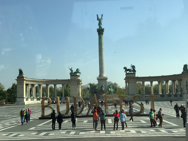 "After our visit to the Opera House we did a panoramic tour of Budapest from our coach and saw amazing site after amazing site such as ""Heroes Square"" in the above pic."