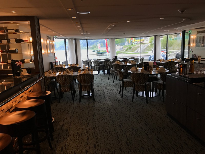"AND, if open dining wasn't enough, Tauck also has ""Arthur's"" at the back of the ship which is open from 11am-11pm so anytime you're hungry you can go here… another great flexible dining perk!!<br /> <br /> Yes, some other lines have a 2nd restaurant like this (we've been on them all) but it either only serves dinner or has a more limited timeframe of when it's open and a much more limited menu."