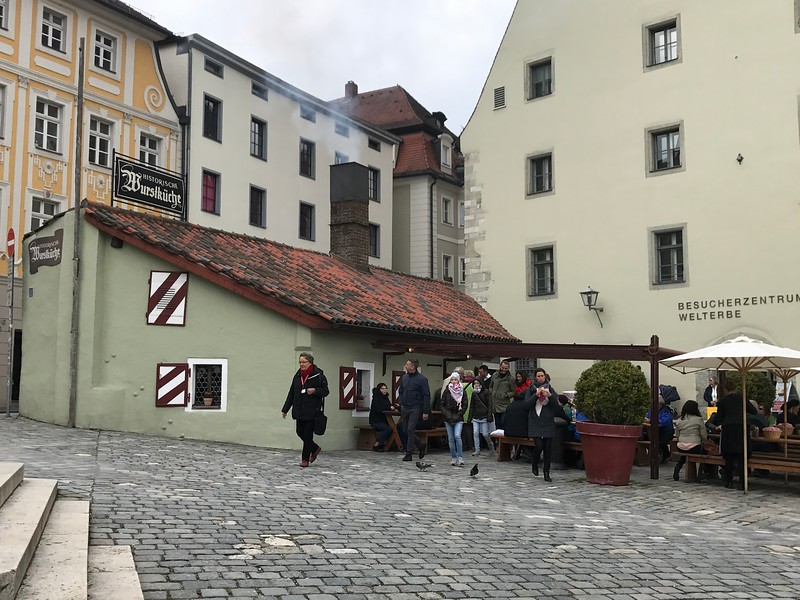 While in Regensburg, Tauck told us about this famous sausage-house, apparently the oldest in the World. And they said the sausages were really, really good. And then, in Tauck style, they gave us 5 euros per person to go try them and they were right, super yummy!! :-)