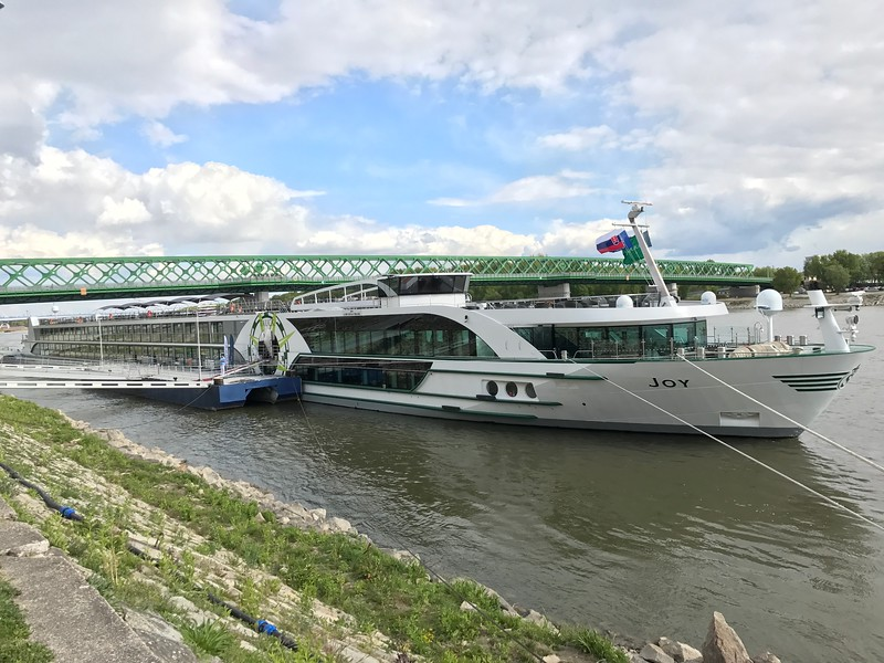 """WOW, we truly did have a great 12 days exploring the Danube River & surrounding region with Tauck… they certainly know how to run a great, great tour and how to leave you with memorable experiences!!<br /> <br /> Now, we did promise you earlier we'd show you more of the ship we sailed on, Tauck's """"Joy""""… here's a peak at her exterior."""