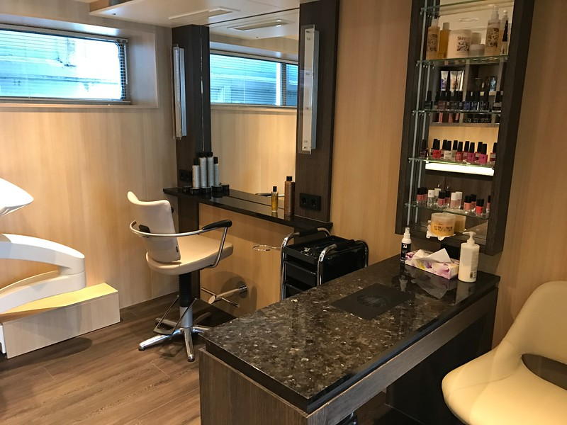 Need your hair and/or nails done? That can be accommodated onboard too!