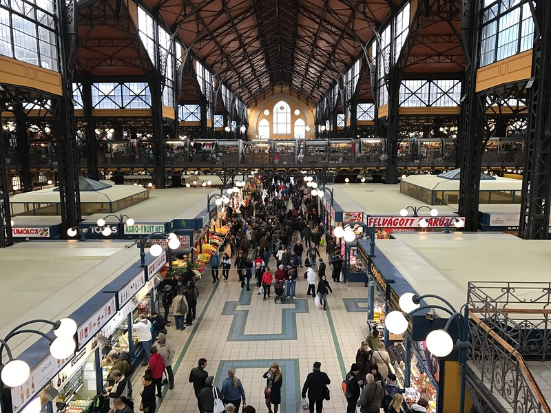 "For our 2nd day of touring in Budapest we started off the day enjoying some time at the ""Great Market Hall"" where you can experience what it's like to shop & eat like the locals do… a very worthy stop for sure when spending some time in Budapest."