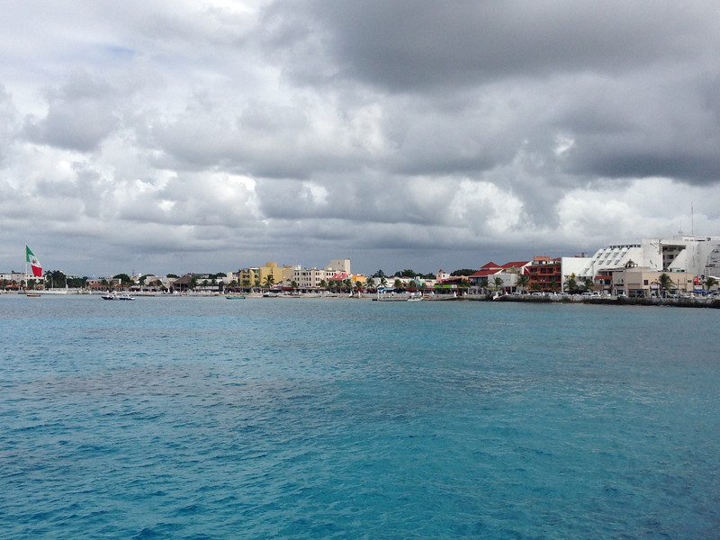 "There's a peek at the Waterfront Skyline in Cozumel, Mexico which was port stop # 2 during our 5 day Western Caribbean Cruise. A great place to shop & enjoy a ""Cerveza"" or 2 with Chips & Guacamole (which we did this time) or like last time we were here you can go kayaking, snorkeling (along with lots of other water activities) & enjoy a massage at the Beach when done."