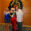 """When on a Disney Cruise the opportunity to get a pic with the Characters is definitely a FUN part of the trip... there we are saying """"Hi"""" to Mickey..."""