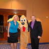 There we are catching an unexpected pic with Pluto as we came out of dinner one evening... FUN!! :-)