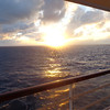 As we say in all of our galleries of our Cruises, if a Balcony is in your budget (and if not maybe skip a few dinners out at home to increase your budget) definitely book one as the views out there are amazing & there's nothing better then experiencing a Beautiful sunset like this one while enjoying a pre-dinner drink & appetizer!