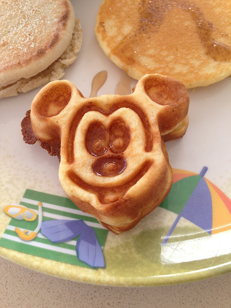 """Mickey Waffles""... definitely something you won't see at Breakfast on any other Cruiseline! :-)"