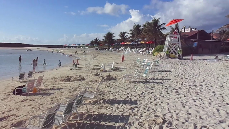"Here's a ""Live Look"" at one of the several gorgeous family beaches that you can enjoy while on ""Castaway Cay""."
