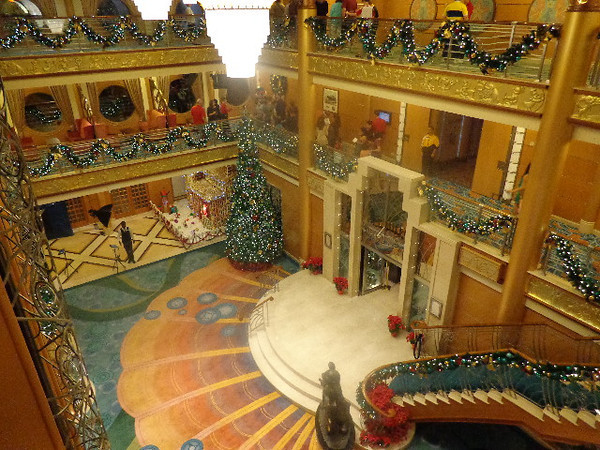 "This was our 4th Cruise over the years either during or close to Christmas & as we've said in other reviews it's a great time to travel as not only is it super festive but the ship always looks great done up for the Holidays… check out how Beautiful the atrium on the ""Disney Magic"" was during our sailing."