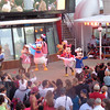 To start off your Disney Cruise you'll enjoy a huge deck party featuring lots of Disney characters, highlighted by a familiar tune played by the ship's horn when it's time to sail away! :-)