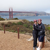 As you can see it was a little foggy around the bridge that day but from the smiles on our faces it didn't damper the experience at all. :-)