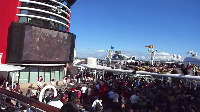 "Here's a ""Live"" look at how much fun a sail-away party on a Disney Cruise ship can be! :-)"