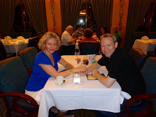 Dinner together on a Cruise Ship... we love it! :-)