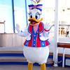 "Of course one of the biggest highlights of a Disney Cruise is the character sightings & greetings that are constantly going on while onboard... there's ""Daisy"" saying hi to everyone during our 1st ""Sea Day"". :-)"