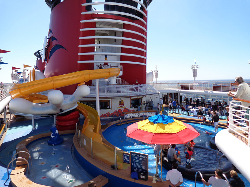 And last but not least was the kid's pool... complete with a slide held up by Mickey's hand. :-)