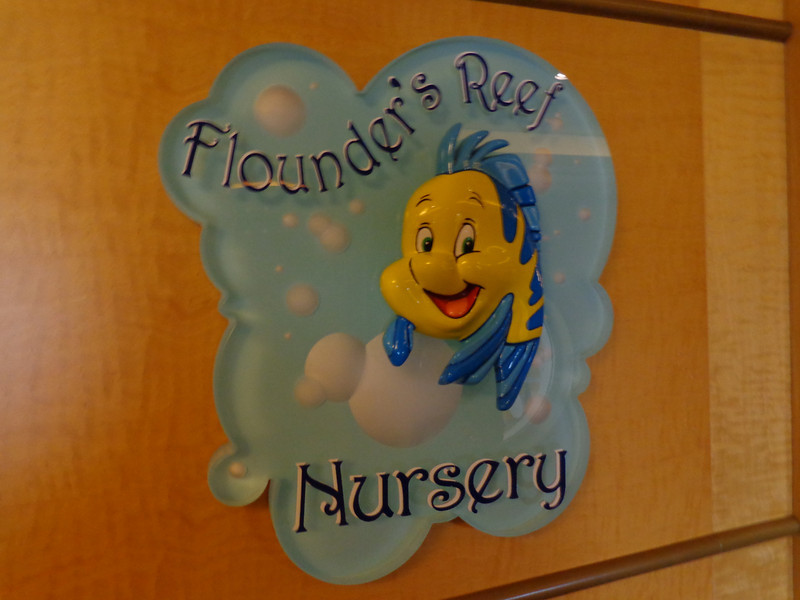"A unique feature on Disney's ships is they offer group babysitting at ""Flounder's Reef Nursery"" for 12 week to 3 year olds... it's perfect for brand new parents who don't want to wait till their child turns 3 (that's how old most Cruiselines require kids to be to participate in their youth programs) before they can enjoy a great Cruise."