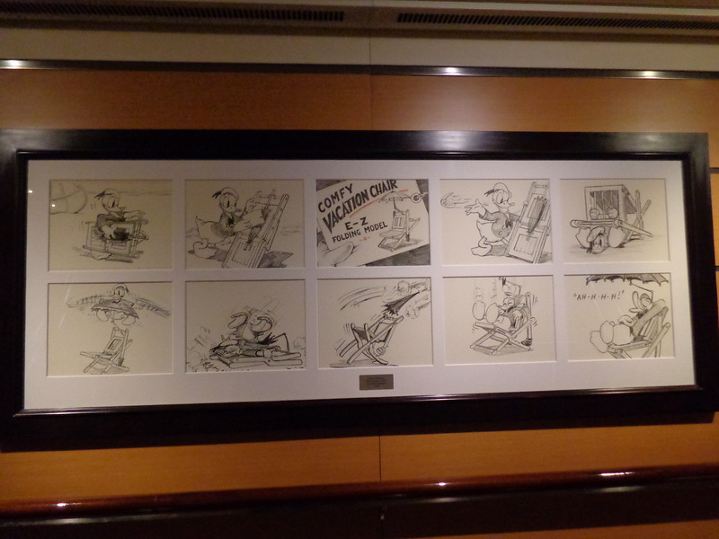 Another definite highlight of Disney's Classic/Modern ships is all the beautiful art all over the ship... classic animation like this is found in every stairway on every floor... very nice! :-)