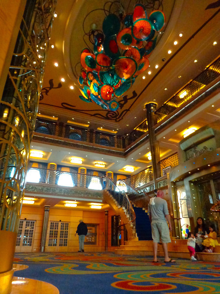 "There's a peek at the ""Wonder's"" lobby... like the rest of the ship it was gorgeous! :-)"
