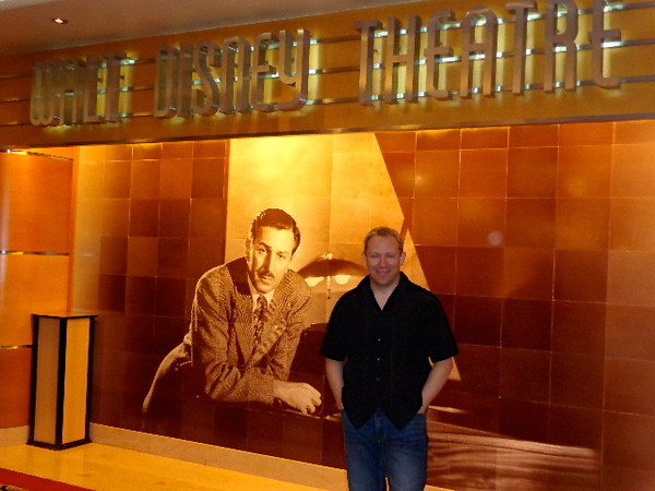 Being huge lovers of everything that Walt Disney created (we've been to Walt Disney World 5 times together & Disneyland 4 times) it was great to see pieces of Walt all around the ship like this great picture of him at the Theatre... where some great Disney shows took place!