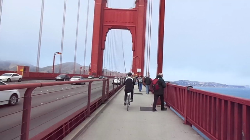 "Here's a ""Live"" look as we made our way across the Golden Gate Bridge... what a fun bike ride that was! :-)<br /> <br /> You can read our full blog post review here about our amazing Cruise on the ""Disney Wonder"": <a href=""http://nancyandshawnpower.com/disney-wonder-cruise-review/"">http://nancyandshawnpower.com/disney-wonder-cruise-review/</a>"