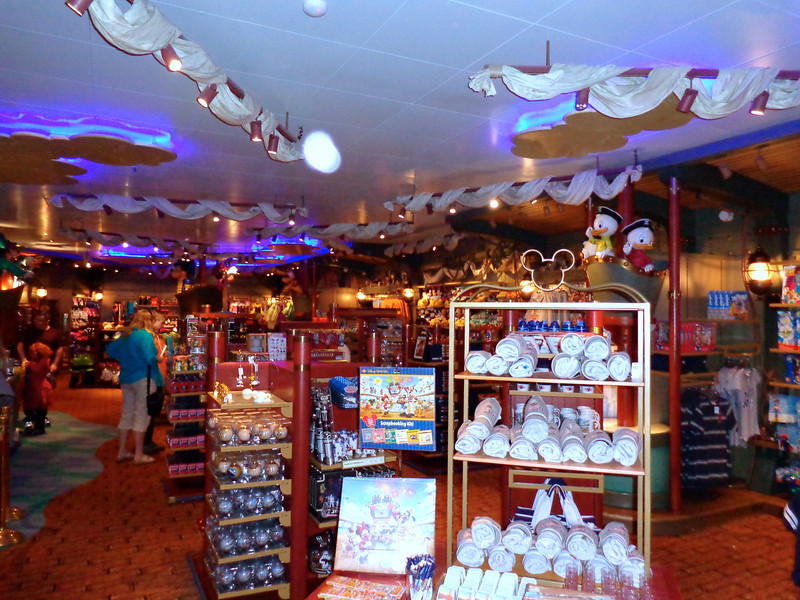 "Like onboard all Cruise ships there's shops onboard the Wonder but here they're ""Disney"" shops where you can buy Disney branded clothes, souvenirs, toys, etc... fun!! :-)"