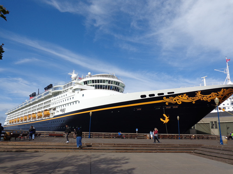 "There's a shot of our ""Home"" during our 6 night sailing from Vancouver to LA... the ""Wonder""ful Disney Wonder. :-)"