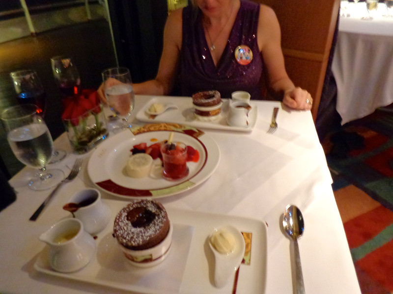 The seafood & lamb we had for dinner was awesome but the dessert was even better... make sure to have the chocolate soufflé when there, it's to die for!! :-)