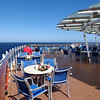 Speaking of the Buffet, here's the open deck at the back of the ship at the buffet where you can take in some gorgeous sea views while enjoying breakfast, lunch or dinner... Beautiful!!