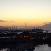 """After 2 great days in San Francisco it was truly fitting to watch a beautiful sunset with the """"Golden Gate Bridge"""" as a backdrop!"""