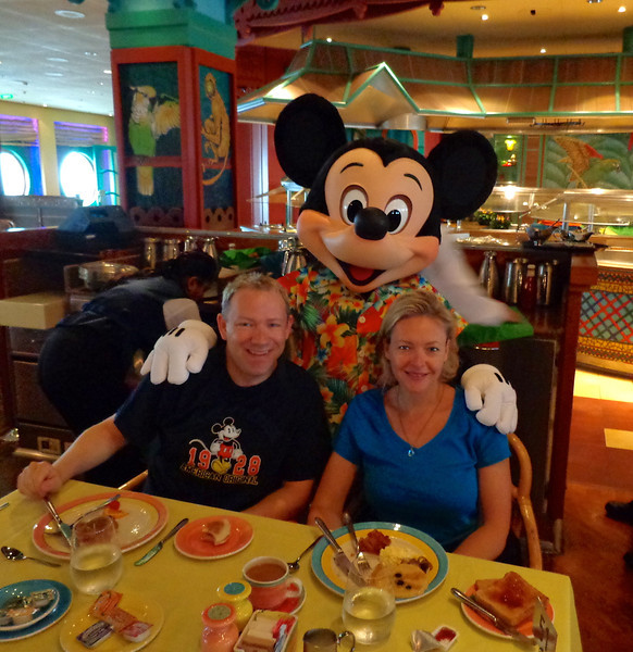 "Speaking of ""Mickey"" he dropped by to say hello during our fun breakfast that we enjoyed with him and the gang. :-)"