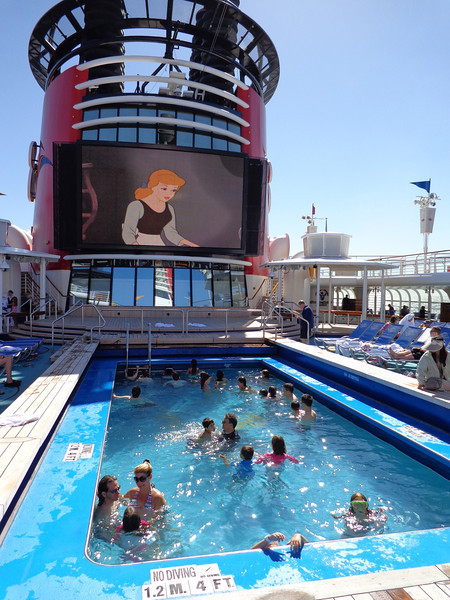 "There's the family pool area that was great for all ages... especially since that's where the ""funnel vision""/jumbo screen was where you could watch a great Disney movie."