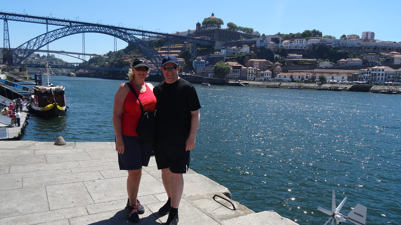 "The highlight of Porto for sure though is the views from up & down the Douro River that runs between the steep hills that create ""Porto's"" & ""Vila Nova de Gaia's"" landscapes... that's the ""Dom Luís I"" Bridge behind us, Porto's most famous one that connects ""Porto"" & ""Vila Nova de Gaia"" to each other."