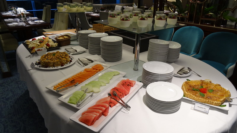 There's a sample of one of the dessert buffets they put out for lunch one  day, yummy! :-)