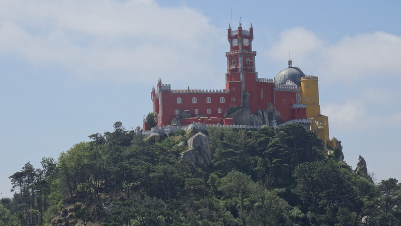 "After exploring Lisbon's districts the first 2 days, on our 3rd day we headed out to ""Sintra""... even though it's only 30mins or so from Lisbon it was a totally different feel with some amazing fairytale-like sites like the above ""Pena Palace""."